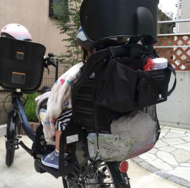 3人乗り自転車の荷物
